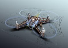 Parrot Rolling Spider mini drone by Karim Fargeau at Coroflot.com