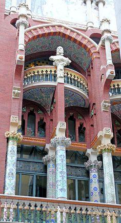Barcelona - St. Pere Més Alt 013 04 by Arnim Schulz  -Palau de la Música Catalana  1908  Architect: Lluís Domènech i Montaner