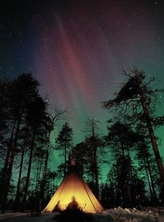 Camping under the stars....don't know if this is Canada but, it could be!