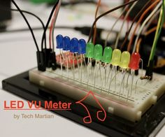 This is a VU meter, where the LEDs light up to the tune (more accurately, volume) of music. It is comprised of a sound detector board and 10 differently coloured ...