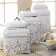 Amazon.com - Mud Pie- Starfish Canister Set - Kitchen Storage And Organization Product Sets