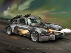 Porsche 911 by Bartoleum on DeviantArt Apocalypse Art, Nuclear Apocalypse, Zenvo St1, Demolition Derby, Death Race, Vs The World, Custom Hot Wheels, Armored Vehicles, Armored Car