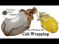 ▶ Cabochon Wrapping - YouTube free tutorial from The Potomac Bead Company www.potomacbeads.com Buy Online: www.thebeadco.com