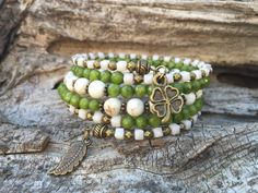 Lucky Leaf Multi Strand Brass Memory Wire by McHughCreations