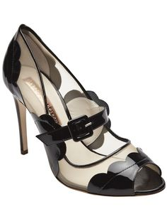 Patent Leather/Mesh Mary Janes by Rupert Sanderson