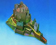 Maquetas de castillos para montar con recortables Castillo Bodiam, Nerf, Medieval, Neuschwanstein Castle, Zaragoza, Palaces, Castles, Majorca, Mid Century
