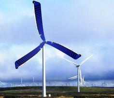 Aerogeneradores solares. Científicos de la Universidad de Liverpool han empezado a simular molinos de viento que llevan incorporados paneles solares en las aspas