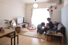 小さなお子さんがいる家庭では、リビングの一角に遊び場所として設置するのにぴったりですね。