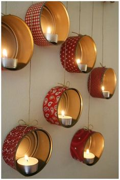 DIY Christmas decorations: Hanging Tin Can Lanterns Tin Can Lanterns, Lantern Decorations, Diy Lantern, Ideas Lanterns, Hanging Lanterns, Tin Can Crafts, Idee Diy, Diy Weihnachten, Diy Candles