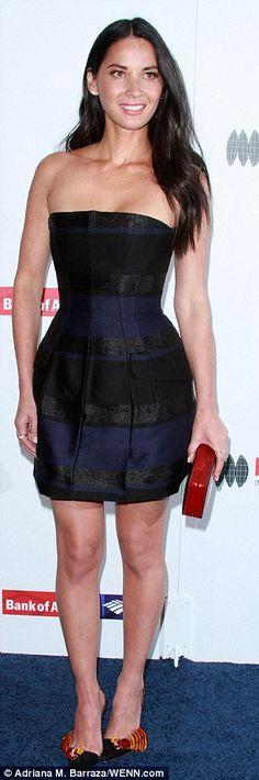 Eva Longoria is ravishing in red and Olivia Munn dons strapless number #dailymail