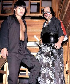 The Black Ninja (pre Great Muta) and Kendo Nagasaki. Japanese Wrestling, Wrestling Posters, Nagasaki, Kendo, Band Posters, Professional Wrestling, Martial Arts, Superstar, Sequin Skirt