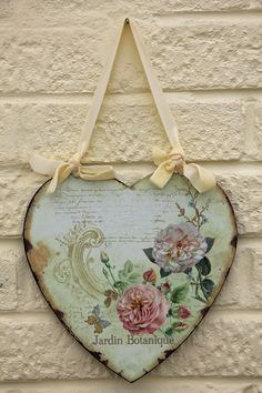 French Shabby Chic Metal Heart-Jardin Botanique - £9.50 : Orange Grove Crafts, Stylish Gifts & Accessories For The Home