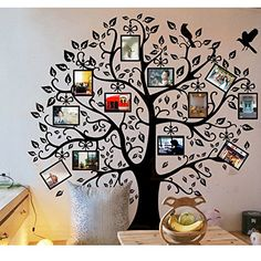 This Family Photo Tree is a great idea and you can either purchase a decal or make your own. Our post includes both so be sure to have a look - This post contains affiliate links.