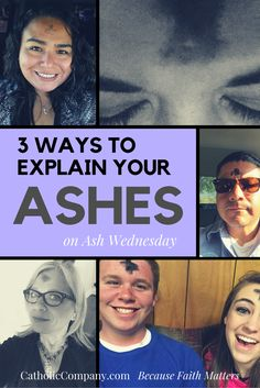 How to your ashes on Ash Wednesday: 3 methods. Ash Wednesday Images, Easter Devotions, 40 Days Of Lent, Lenten Season, Catholic Company, Religious Images, Sunday School, Christianity, Religion