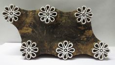 Indian Wooden Hand Carved Textile Printing on Fabric Block Stamp Floral Circles | eBay