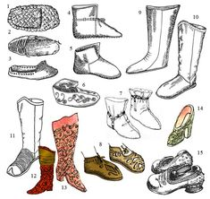 historical Russian shoes