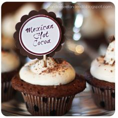 Mexican Hot Cocoa Cupcakes Recipe - landeelu.com