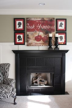 I am really digging the black mantel with the accessories :)