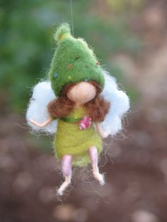 Waldorf inspired needle felted little fairy by Made4uByMagic