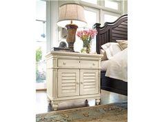 Paula Deen Home Steel Magnolia 1 Drawer Nightstand Finish: Linen Paula Deen, Bedroom Furniture Sets, Bedroom Sets, Home Furniture, Master Bedroom, Bedrooms, Bedroom Decor, Furniture Ideas, Coastal Furniture