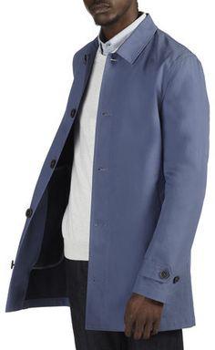 Burton Mens Blue Shower Resistant Mac on shopstyle.com.au  $103.44