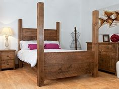distinctive dark wooden bed frame - Post Bed Frames