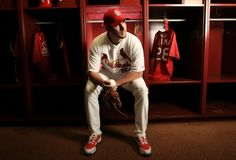 Adam Wainwright poses for a portrait during spring training  2-19-13