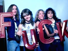 Metallica, not to be mistaken with the current band also named Metallica. Cliff Burton, James Hetfield, Robert Trujillo, Jason Newsted, Thrash Metal, Rock Poster, Ride The Lightning, Kirk Hammett, Spiegel Online