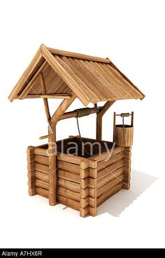 Wooden wishing well. © Nikreates / Alamy