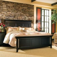 Stone accent wall. I like for a bathroom or basement.