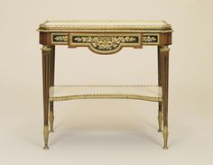 Two-tiered Console Table by Martin Carlin circa 1775 on display in the French…