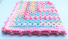 Rainbow Baby Blanket, Crochet Baby Blanket, Granny Square, Pink Baby Blanket, Double Thick, Photo Prop, Colorful, Baby Gift, Handmade Blanket, Ready to ship Custom orders are welcome! If you see something you like but would like it in another color or design. Please message me