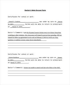 Fake Doctors Note Print Out Fake Doctors Note Template