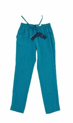 """$345 FACONNABLE """" Bleu Canard """" Drawcord PANTS in GREEN 6 Free Shipping #Faconnable #Pants"""