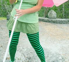 4011747124429 These fun Plus Size Striped Tights come in tons of colors. Green or Red will