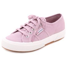 Superga 2750 Cotu Classic Sneakers (3,000 PHP) ❤ liked on Polyvore featuring shoes, sneakers, chalky pink, pink sneakers, women shoes, lacing sneakers, laced sneakers and lace up shoes