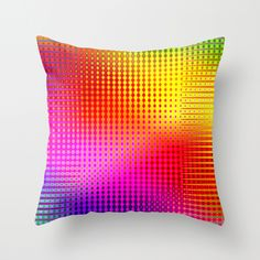 Pattern multicolored 19 Throw Pillow
