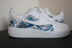 Custom Nike Air Force 1 -made to order. -made using paint that will survive against use and is waterproof. -based on a painting called Custom Sneakers, Custom Shoes, Sneakers Nike, Adidas Shoes, Nike Custom, Vans Shoes, Shoes Heels, Nike Air Force, Air Force Ones