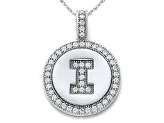 """Zoe R(tm) Sterling Silver Micro Pave Hand Set Cubic Zirconia (CZ) Letter """"I"""" Initial Disc Pendant Zoe R. $24.98. Free Jewerly Box. Free Chain in a matching metal will be included. Guaranteed Authentic from the Zoe R designer line"""
