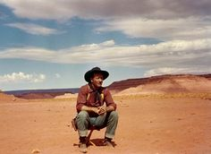 "shopmidnightrider: "" John Wayne, during the filming of ""The Searchers,"" Monument Valley, Arizona-Utah, 1956 Photography © John R. I Movie, Movie Stars, Monument Valley, Utah, Ken Curtis, Jeffrey Hunter, Arizona, John Wayne Movies, Photo Star"