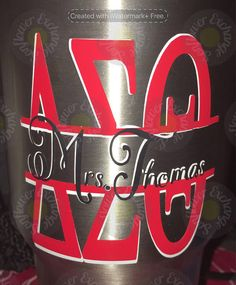 Delta Sigma Theta Decal Inspired Decal on Stainless Steel Cup