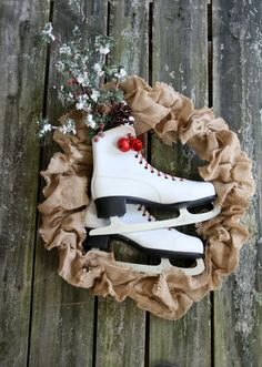 Cute Ice Skate wreath