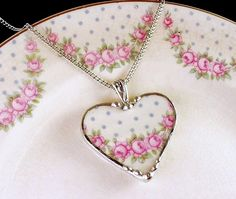 Broken china jewelry by Laura Beth Love Dishfunctional Designs- and i have so many broken dishes!