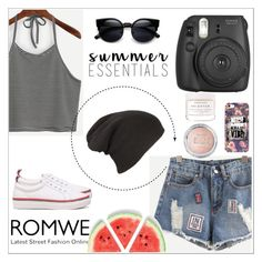 """""""Romwe 5"""" by amra-f ❤ liked on Polyvore featuring Fujifilm, Herbivore and romwe"""