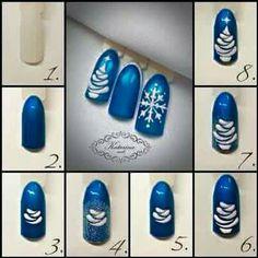Li Diy Christmas Nail Designs, Holiday Nail Art, Winter Nail Art, Chistmas Nails, Xmas Nails, Nail Art Noel, Fruit Nail Art, Special Nails, Fall Acrylic Nails