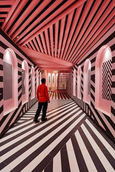 this restaurant by RENESA combines pink interiors with bold zebra stripes https://www.designboom.com/architecture/pink-zebra-feast-india-company-kanpur-india-renesa-03-29-2018/ #restaurantdesign