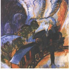 Rhaetian Railway, Davos (1917) - Ernst Ludwig Kirchner