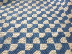 35 best bow tie quilts images on pinterest quilting ideas tie vintage 1930s blue and white bow tie quilt repurposed into heavily machine quilted youth or lap size quilt ccuart Image collections