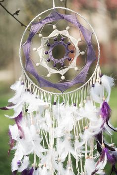 Large dream catcher White dream catcher White by MysteriousForests