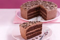 Traditional layers of chocolate cake sandwiched together with sweet chocolate icing is designed to please for any occasion, whether a birthday party or afternoon tea.